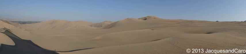 The sand dunes