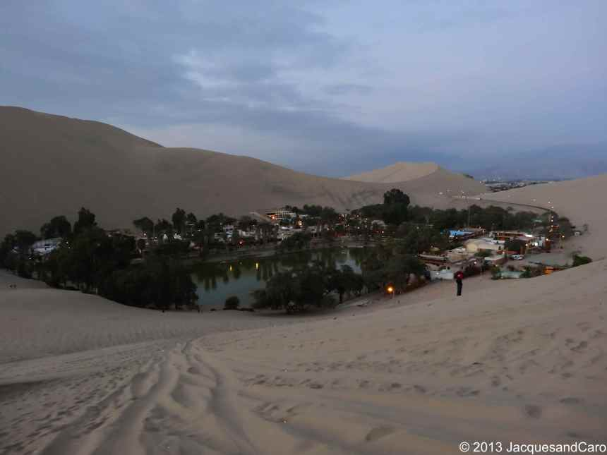 Huacachina, a tiny village surrounded by sand dunes