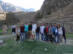 Part of the group we spent the day exploring the sacred valley