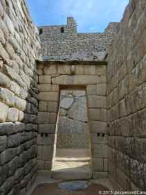 Construction like this one, with very fine assembly of stones shows sacred part of the city such as temple (here entrance to the temple of Sun)