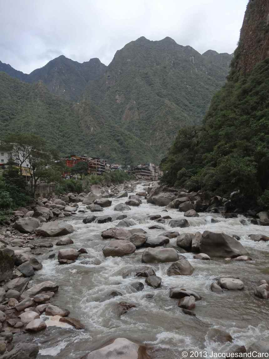 View onto Aguas Calientes