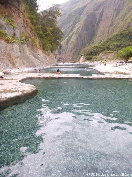 Relaxing at Saint Theresa hot springs