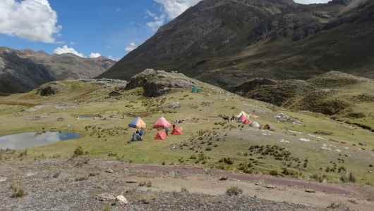 The camp was already setup up by Tico our arriero