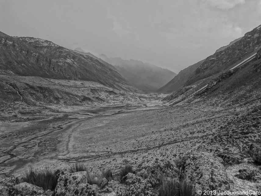 The valley under hail
