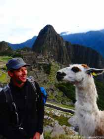 Jacques and a lama