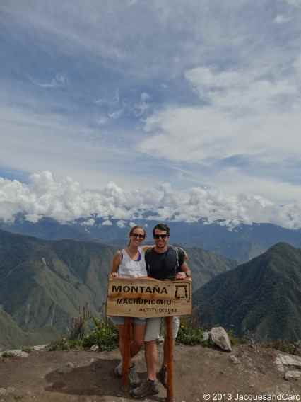 Us at the top of Machupicchu mountain at 3,082m