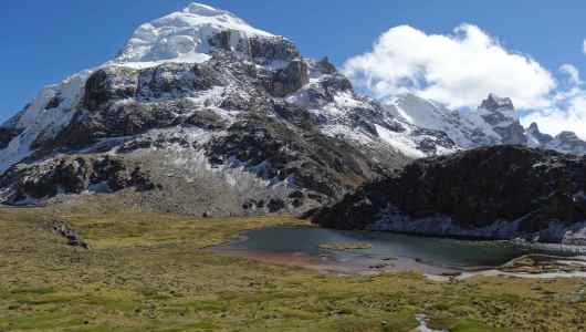 Lake by the Cuyoc at 5000m just a few meters away from the pass
