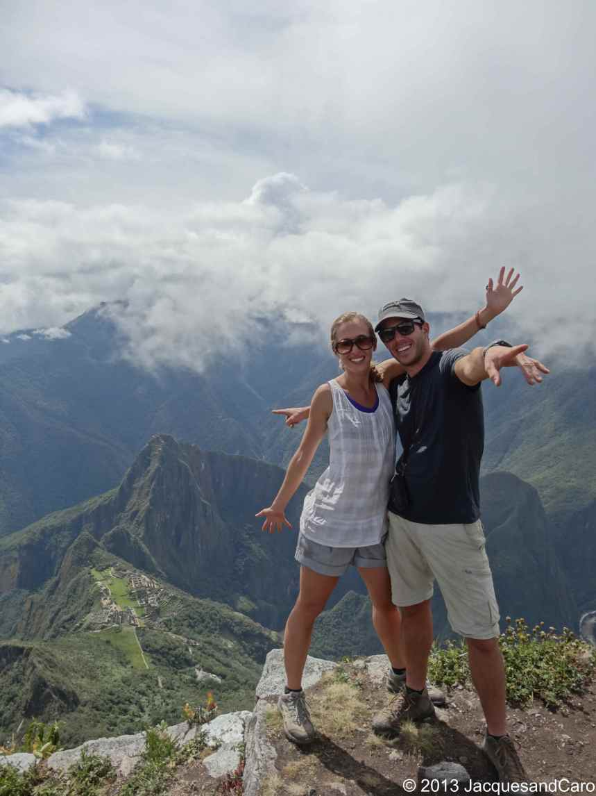 Both of us from the top of Machupicchu mountain