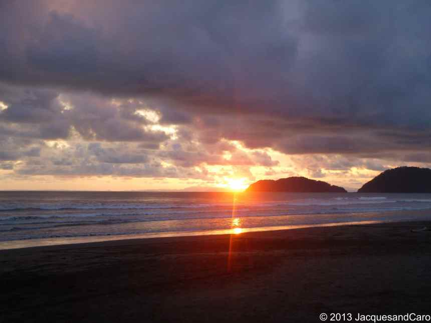 Sunset by Jaco beach, on the pacific coast of Costa Rica