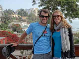 Us from the Barranco famous bridge