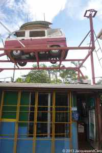 Cool car above the hostel office