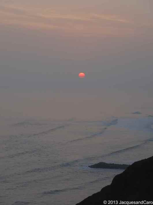 Sunset above the Pacific Ocean in Miraflores