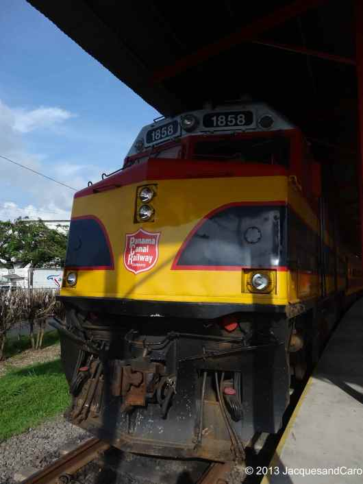 The train bringing us from Colon back to Panama City