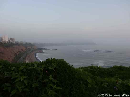 View of the coast from Miraflores district (tourist district)