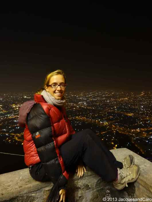 Caroline from the top of the cerro overlooking Lima