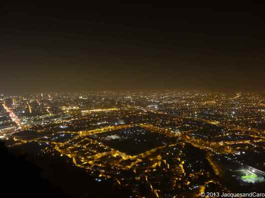 Part of Lima at night