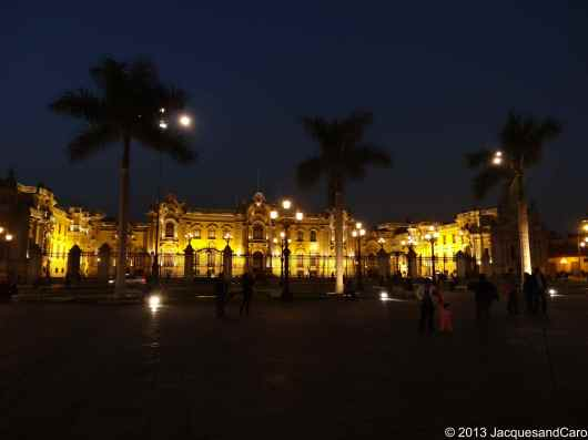 Government palace at night