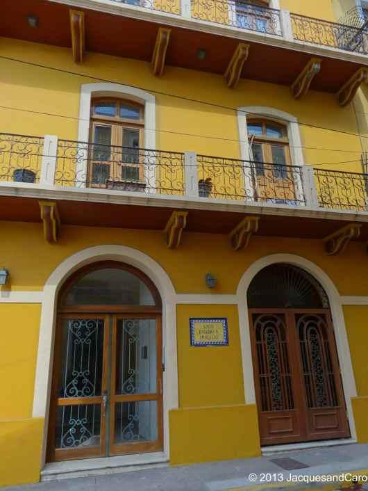 Building of Casco Viejo, nice yellow colour