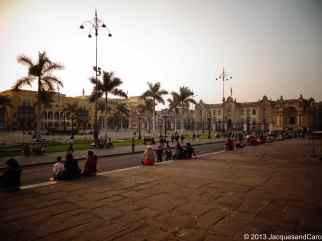 The historic centre of Lima. La plaza mayor