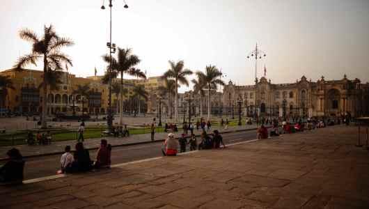 The historic centre of Lima. La plaza mayor