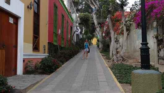 Caroline in Barranco street