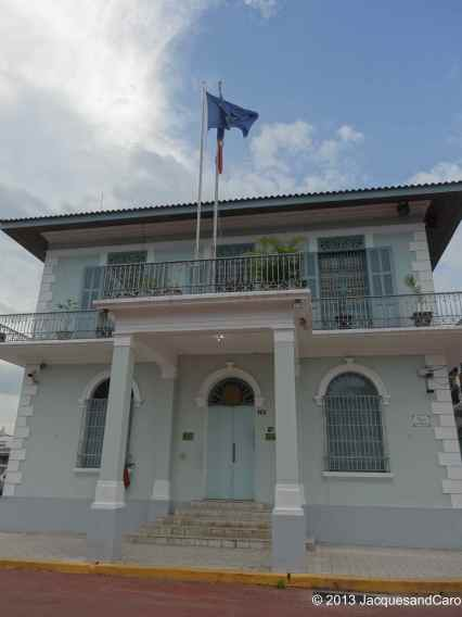 French Embassy in a beautiful embassy. The french were the first to start digging the canal
