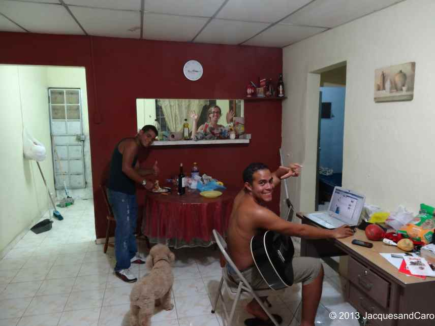 Our couch surfer hosts in Panama city, Francisco and his primo (cousin) Gustavo