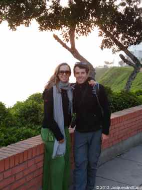 Us in Miraflores for the sunset (although we can't really see the sunset)