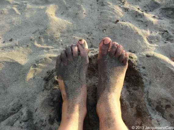 Sandy feet
