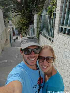 Us in the street of Barranco