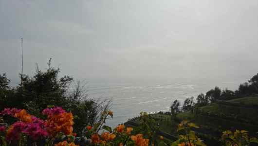 View of the pacific ocean cost from Barranco district
