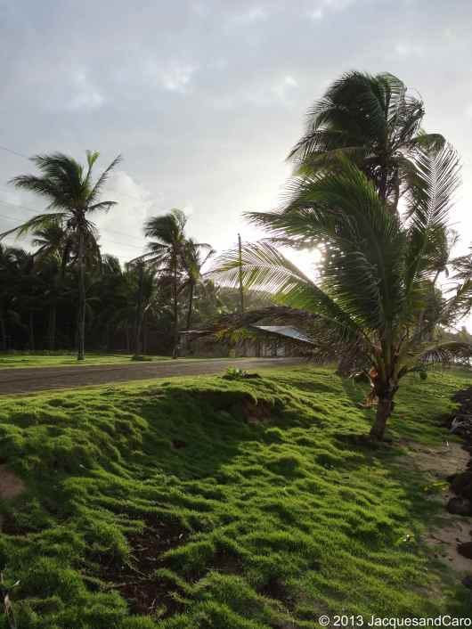 After the storm, the sun is back.. on the north side of Big Corn Island