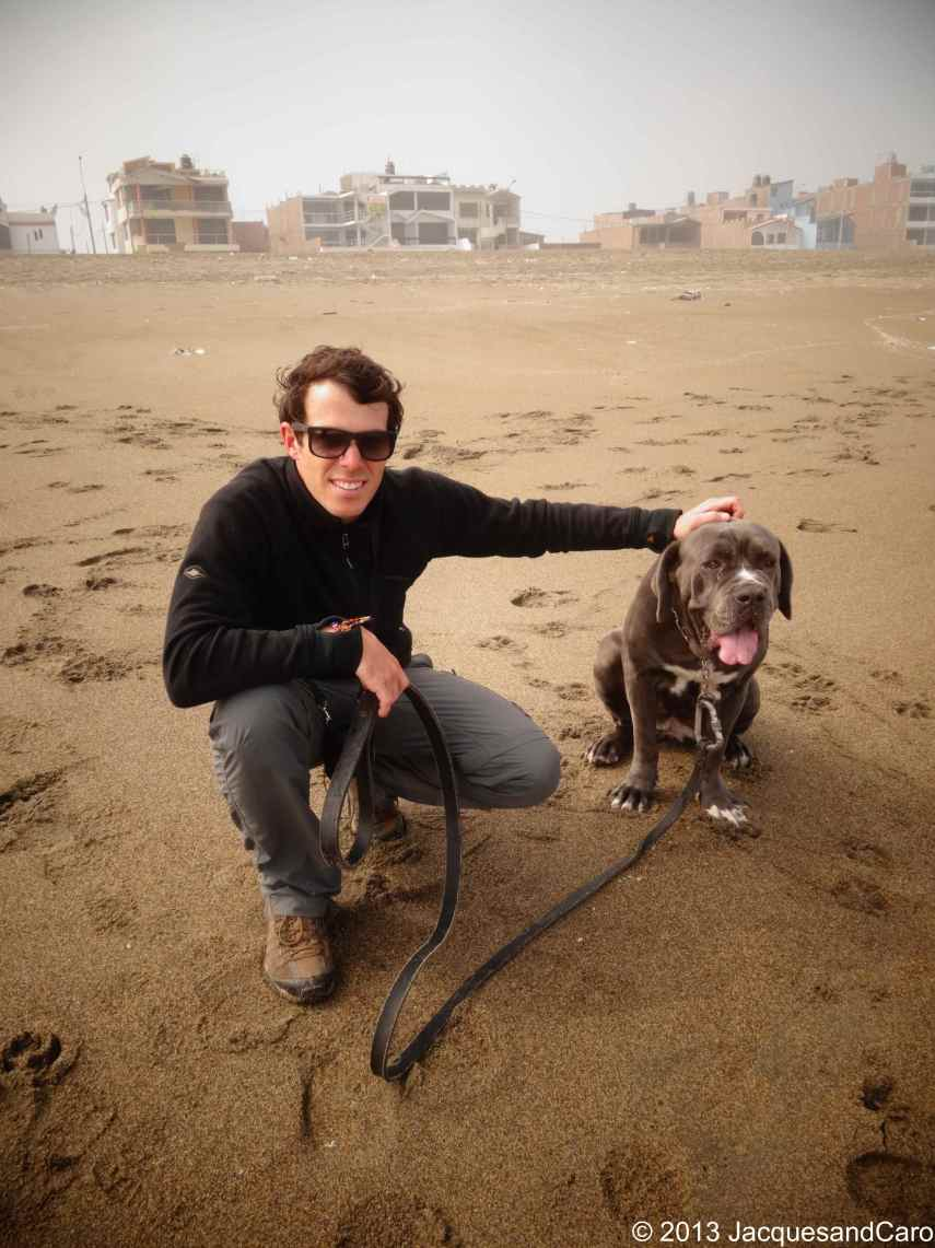 On the beach of Churillos with Arena (diego's dog)
