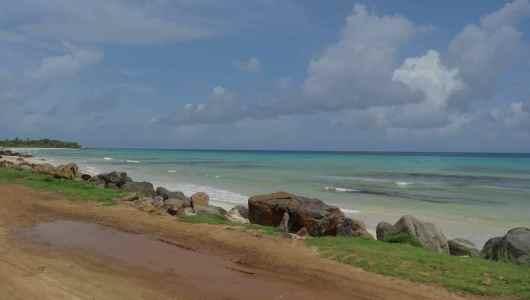 La playa Coco facing our hostel