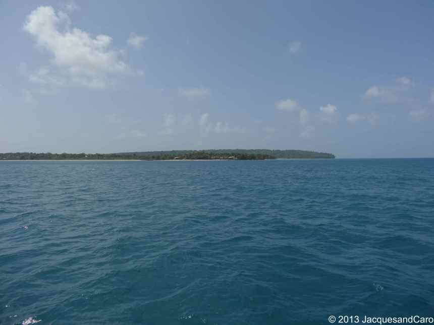 We can see Corn Island Coast after 5 hours of boat!!