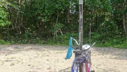 The bikes on Chiquita beach