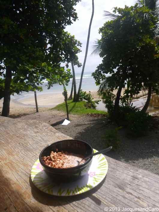 Breakfast time from the hostel balcony