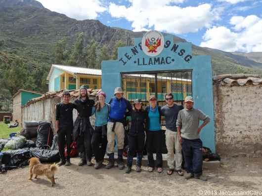 Eyner, Matt, Myriam, Jochen, Simone, Caro, Jacques, Tito and the dog