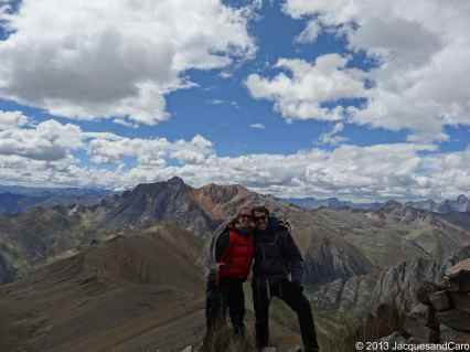 Us from the mirador, a few meters from the pass