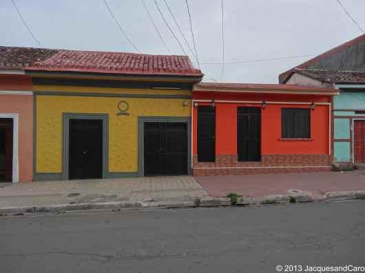 Granada colourful houses