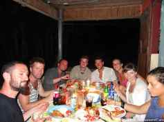 Our last night in Little Corn with a lot of good friends
