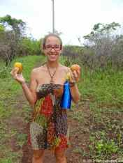 More than 300 types of mangos, Caroline is so happy
