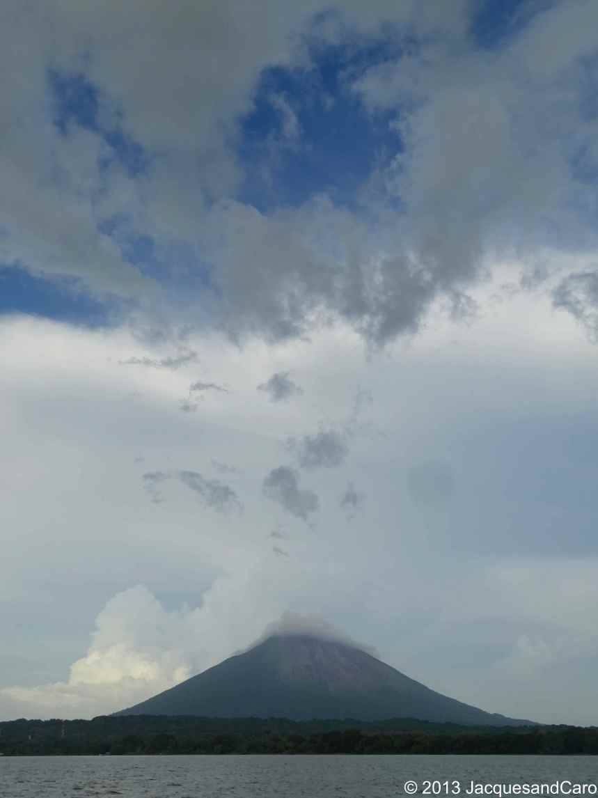 The Concepcion volcano from the boat