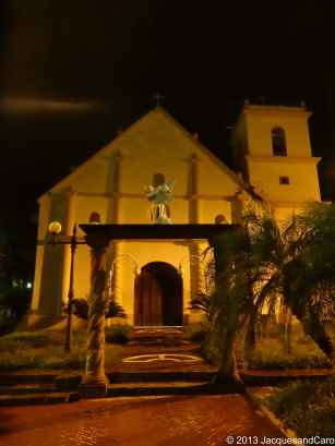 Choluteca main church, by night