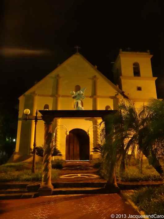 Choluteca main church, by night