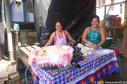 The smiling Tortillas makers