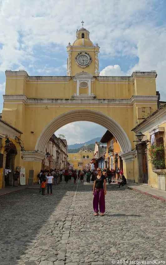 Caroline and the Santa Catalina Arch