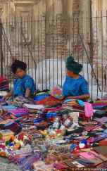 Local women in the street market