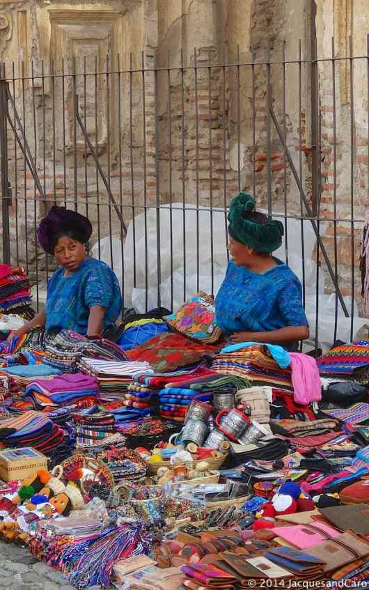 Local women in the street market