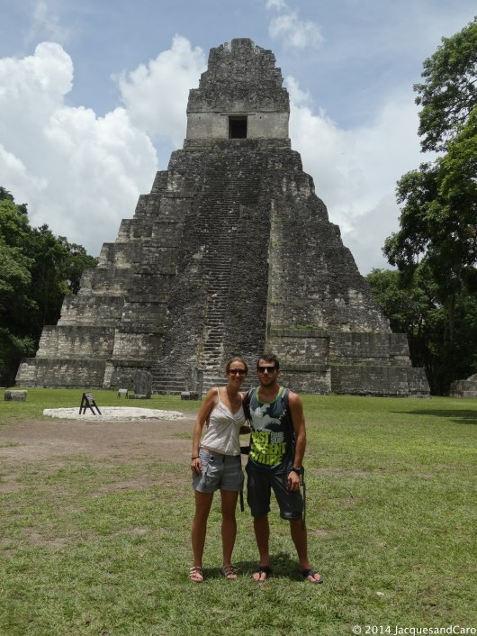 Us in front of the jaguar temple